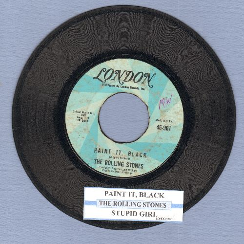 Rolling Stones - Paint It, Black/Stupid Girl (with juke box label) - VG7/ - 45 rpm Records