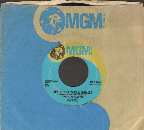 Royalettes - It's Gonna Take A Miracle/Out Of Sight, Out Of Mind (with MGM company sleeve) - EX8/ - 45 rpm Records
