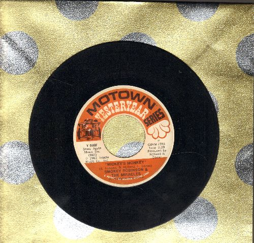 Robinson, Smokey & The Miracles - Mickey's Monkey/A Love She Can Count On (double-hit re-issue) - VG7/ - 45 rpm Records