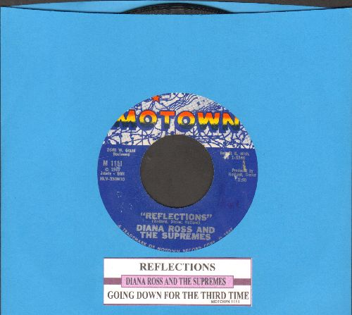 Supremes - Reflections/Going Down For The Third Time (with juke box label) - NM9/ - 45 rpm Records