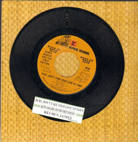 Rogers, Kenny - Ruby Don't Take Your Love To Town/Reuben James (double-hit re-issue with juke box label) - NM9/ - 45 rpm Records