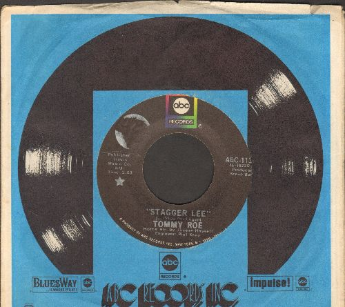 Roe, Tommy - Stagger Lee/Back Streets And Alleys (with ABC company sleeve) - EX8/ - 45 rpm Records