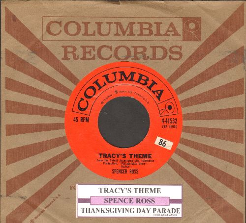 Ross, Spencer - Tracy's Theme (from the TV Production - Philadelphia Story-)/Thanksgiving Day Parade (red label first issue with juke box label and Columbia company sleeve) - EX8/ - 45 rpm Records