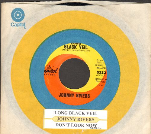 Rivers, Johnny - Long Black Veil/Don't Look Now (with juke box label and Capitol company sleeve) - NM9/ - 45 rpm Records