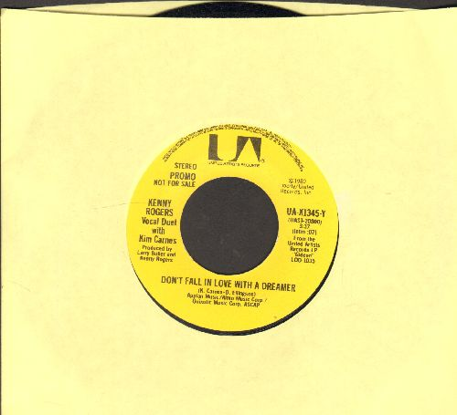 Rogers, Kenny - Don't Fall In Love With A Dreamer (duet with Kim Carnes) (double-A-sided DJ advance pressing) - NM9/ - 45 rpm Records
