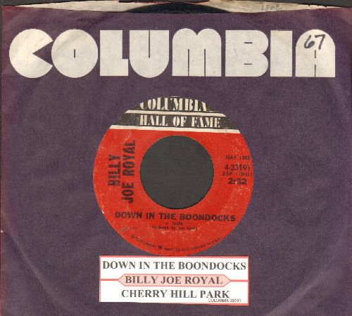 Royal, Billy Joe - Down In The Boondocks/Cherry Hill Park (re-issue with juke box label and company sleeve) - EX8/ - 45 rpm Records