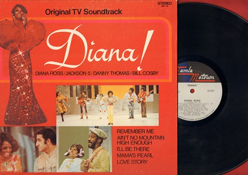 Ross, Diana, Jackson 5, Danny Thoman - Diana - Original TV Soundtrack: Don't Rain On My parade, Walk On By, I'll Be There (Vinyl STEREO LP record, gate-fold cover) - M10/EX8 - LP Records