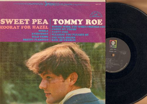 Roe, Tommy - Sweet Pea: Hooray For Hazel, Sheila, Everybody, Pretty Flamingo, The Folk Singer, Under My Thumb (Vinyl MONO LP record) - VG7/EX8 - LP Records