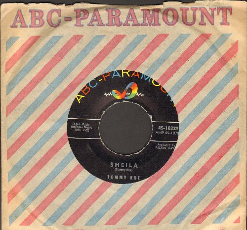Roe, Tommy - Sheila/Save Your Kisses (with ABC-Paramount company sleeve) - NM9/ - 45 rpm Records