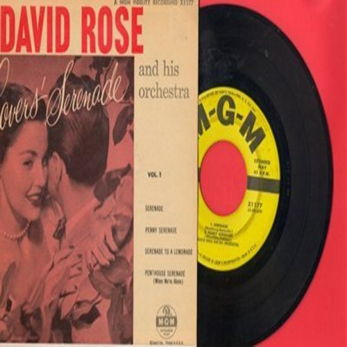Rose, David & His Orchestra - Lovers' Serenade: Serenade/Penny Serenade/Serenade To A Lemonade/Penthouse Serenade (Vinyl EP record with picture cover) - EX8/EX8 - 45 rpm Records