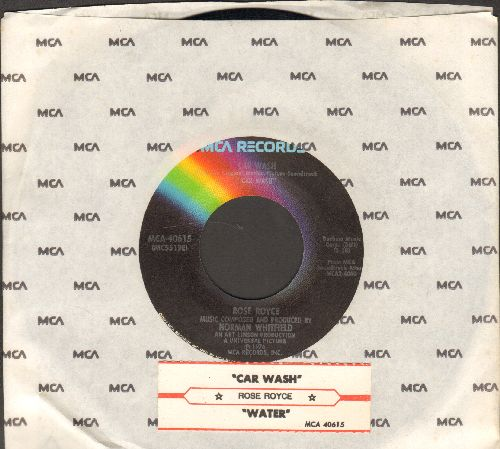 Rose Royce - Car Wash/Water (with juke box label and MCA company sleeve) - EX8/ - 45 rpm Records