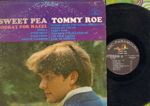 Roe, Tommy - Sweet Pea: Hooray For Hazel, Sheila, Everybody, Pretty Flamingo, The Folk Singer, Under My Thumb (Vinyl STEREO LP record) - EX8/VG7 - LP Records
