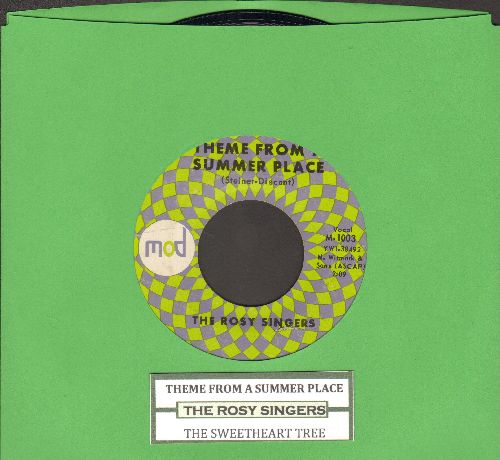 Rosy Singers - Theme From A Summer Place/The Sweetheart Tree (From -The Great Race-)(RARE vocal versions with juke box label) - NM9/ - 45 rpm Records