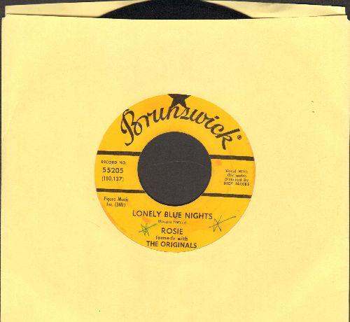 Rosie (formerly with The Originals) - Lonely Blue Nights/We'll Have A Chance (yellow label DJ advance pressing, minor wol) - NM9/ - 45 rpm Records