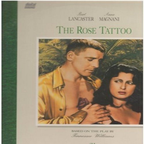 Rose Tattoo - The Rose Tattoo - LASERDISC of the Anna Magnani's Oscar Winning Performance, co-starring Burt Lancaster. This LASERDISC is still SEALED, never opened! NICE Gift! (This is a LASERDISC, NOT any other kind of Media!) - SEALED/SEALED - LaserDisc