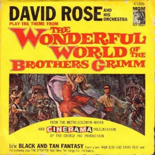 Rose, David & His Orchestra - Theme From The Wonderful World Of The Brothers Grimm/Black And Tan Fantasy (with picture sleeve) - NM9/EX8 - 45 rpm Records