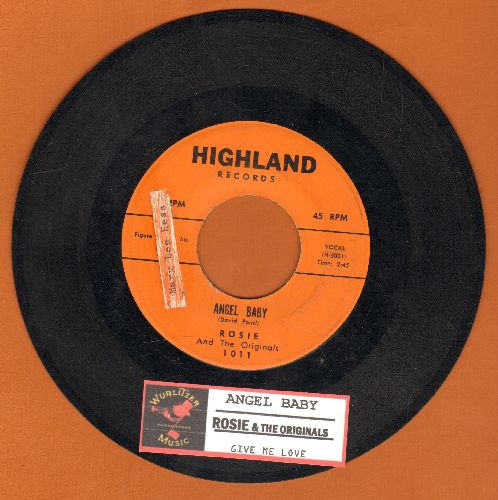 Rosie & The Originals - Angel Baby/Give Me Love (with juke box label, sol) - VG7/ - 45 rpm Records
