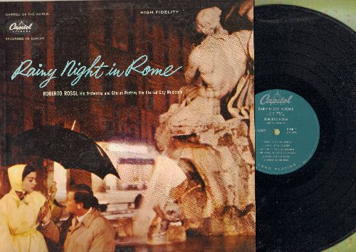 Rossi, Roberto & His Orchestra & Chorus - Rainy Night In Rome: Two On A Vespa, Vermouth On Via Veneto, Horse carriage Waltz (vinyl MONO LP record) - NM9/NM9 - LP Records
