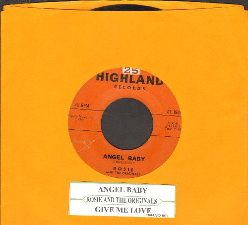 Rosie & The Originals - Angel Baby/Give Me Love (with juke box label) - VG7/ - 45 rpm Records