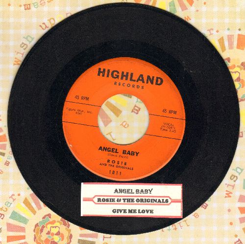 Rosie & The Originals - Angel Baby/Give Me Love (with juke box label) - EX8/ - 45 rpm Records