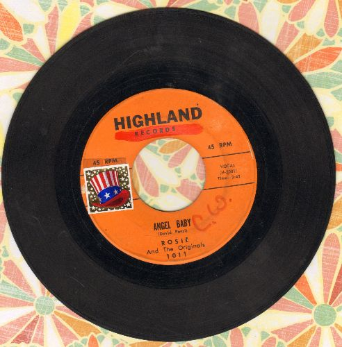Rosie & The Originals - Angel Baby/Give Me Love (minor wol, sol) - VG6/ - 45 rpm Records