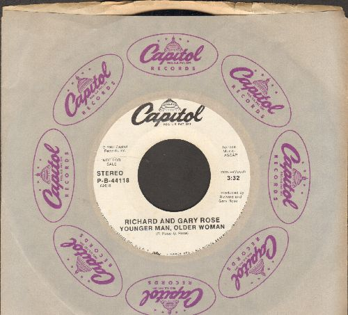 Rose, Richard & Gary - Younger Man, Older Woman (double-A-sided DJ advance pressing with Capitol company sleeve) - NM9/ - 45 rpm Records