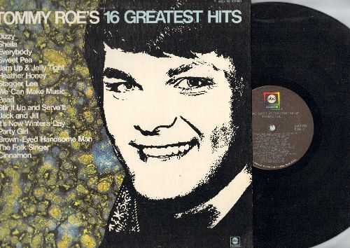Roe, Tommy - Tommy Roe's 16 Greatest Hits: Everybody, Sheila, Dizzy, The Folk Singer, Heather Honey, Jack And Jill (vinyl STEREO LP record) - NM9/NM9 - LP Records