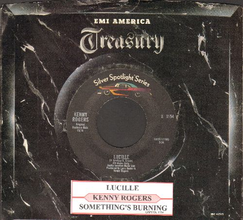 Rogers, Kenny - Lucille/Something's Burning (double-hit re-issue with juke box label and company sleeve) - NM9/ - 45 rpm Records