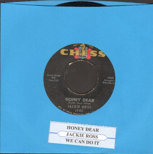 Ross, Jackie - Honey Dear/We Can Do It (with juke box label) - VG7/ - 45 rpm Records