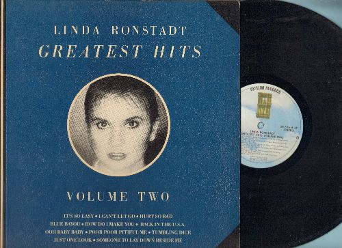 Ronstadt, Linda - Greatest Hits Vol. 2: It's So Easy, Hurt So Bad, Blue Bayou, How Do I Make You, Tumbling Dice, Just One Look, Ooh Baby Baby (vinyl STEREO LP record, gate-fold cover) - NM9/EX8 - LP Records