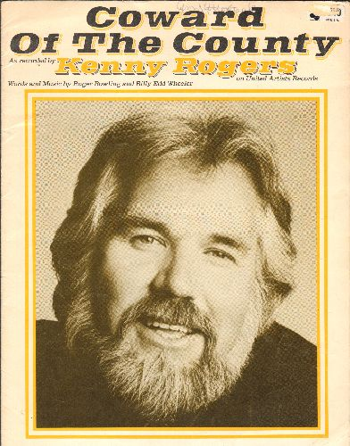 Rogers, Kenny - Coward Of The County - SHEET MUSIC for the Kenny Rogers Country Classic - EX8/ - Sheet Music