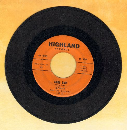 Rosie & The Originals - Angel Baby/Give Me Love (minor wol) - G5/ - 45 rpm Records