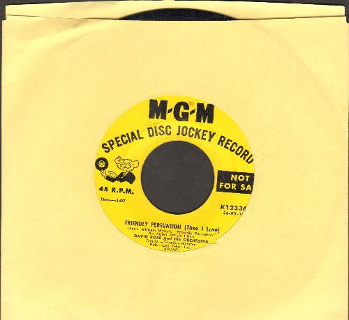 Rose, David & His Orchestra - Friendly Persuasion (Thee I Love)/There's Never Been Anyone Else But You - NM9/ - 45 rpm Records