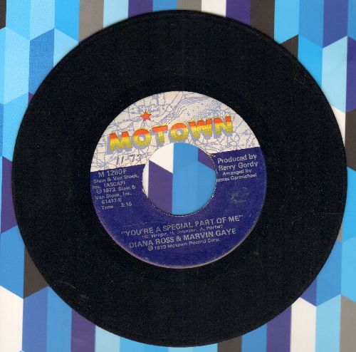 Ross, Diana & Marvin Gaye - You're A Special Part Of Me/I'm Falling In Love With You - NM9/ - 45 rpm Records