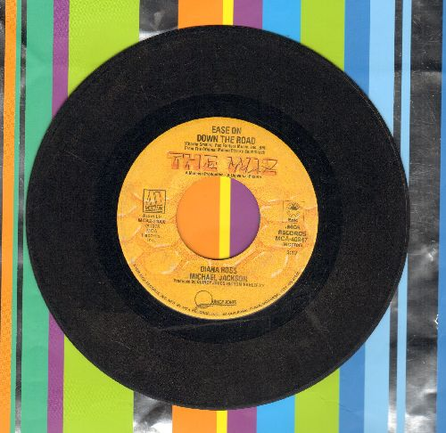 Ross, Diana & Michael Jackson - Ease On Down The Road/Puppy Girls (from film -The Wiz-) - G5/ - 45 rpm Records