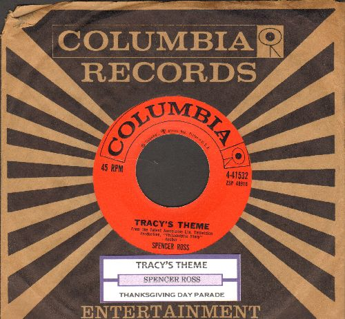 Ross, Spencer - Tracy's Theme (from the TV Production - Philadelphia Story-)/Thanksgiving Day Parade (red label first issue with juke box label and Columbia company sleeve) - NM9/ - 45 rpm Records