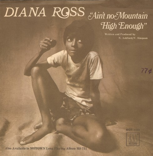 Ross, Diana - Ain't No Mountain High Enough/Can't It Wait Until Tomoroow (with picture sleeve) - EX8/VG7 - 45 rpm Records