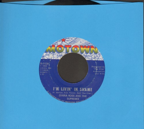 Supremes - I'm Living In Shame/I'm So Glad I Got Somebody (bb) - EX8/ - 45 rpm Records