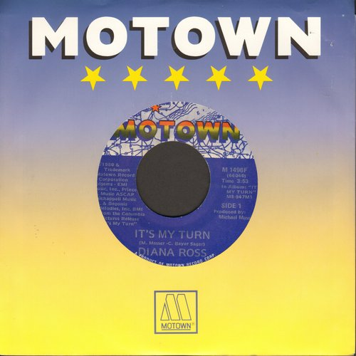 Ross, Diana - It's My Turn/Together (with Motown company sleeve) - NM9/ - 45 rpm Records