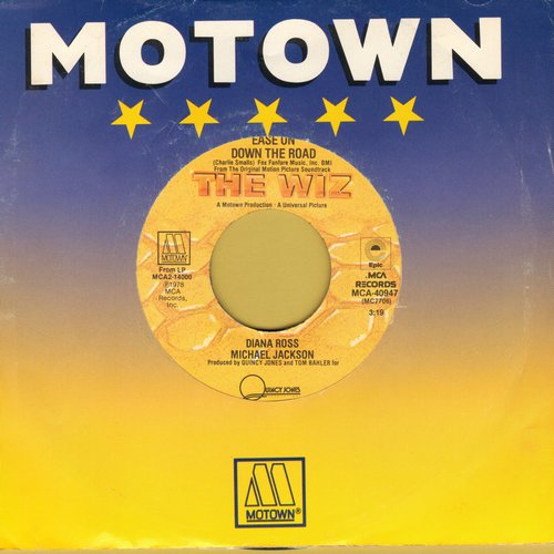 Ross, Diana & Michael Jackson - Ease On Down The Road/Puppy Girls (from film -The Wiz-) - EX8/ - 45 rpm Records
