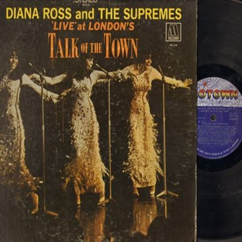 Supremes - LIVE at London's Talk Of The Town: The Happening, More, You Keep Me Hangin' On, Reflections (Vinyl STEREO LP record) - EX8/VG7 - LP Records