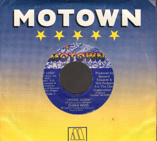 Ross, Diana - Upside Down/Friend To Friend (with Motown company sleeve) - NM9/ - 45 rpm Records