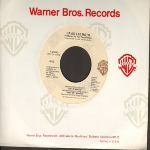 Roth, David Lee - Just A Gigolo/I Ain't Got Nobody  - EX8/ - 45 rpm Records