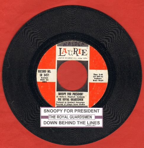 Royal Guardsmen - Snoopy For President/Down Behind The Lines (with juke box label) - VG7/ - 45 rpm Records
