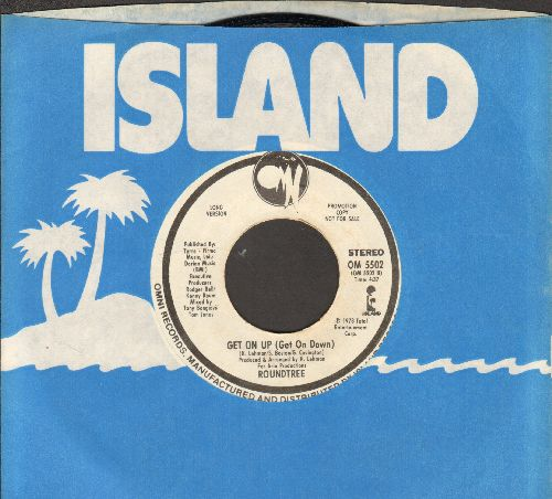 Roundtree - Get On Up (Get On Down) (DJ advance pressing with Short and Long Versions, with vintage Island company sleeve) - NM9/ - 45 rpm Records