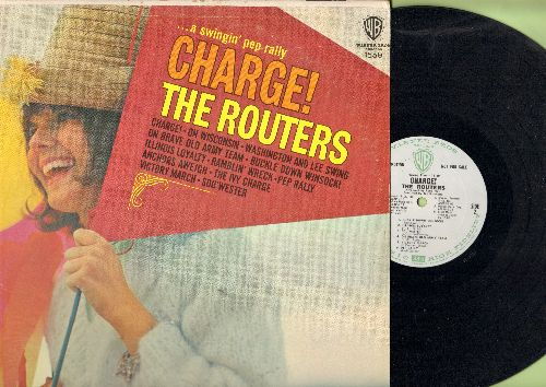 Routers - Charge!: On Wisconsin, Anchors Aweigh, The Ivy Charge, Washington And Lee Swing, On Brave Old Army Team, Victory March, Pep Rally (Vinyl MONO LP record, DJ advance pressing) - EX8/EX8 - LP Records