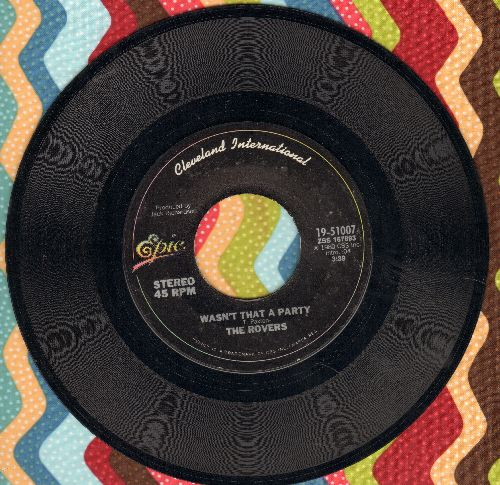 Rovers - Wasn't That A Party/Here's To The Horses - EX8/ - 45 rpm Records