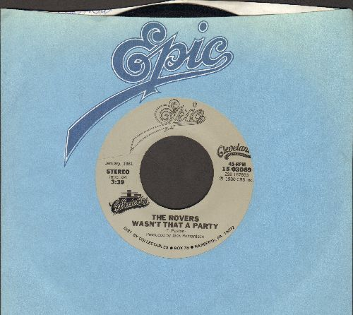 Rovers - Wasn't That A Party/Pain In My Past (double-hit re-issue with Epic company sleeve) - EX8/ - 45 rpm Records