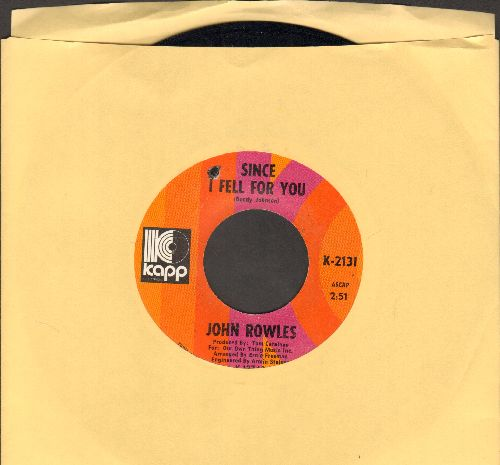 Rowles, John - Since I Fell For You/All Kinds Of People (bb) - EX8/ - 45 rpm Records
