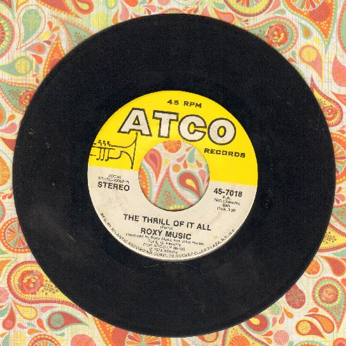 Roxy Music - The Thrill Of It All/Your Applications Failed - EX8/ - 45 rpm Records